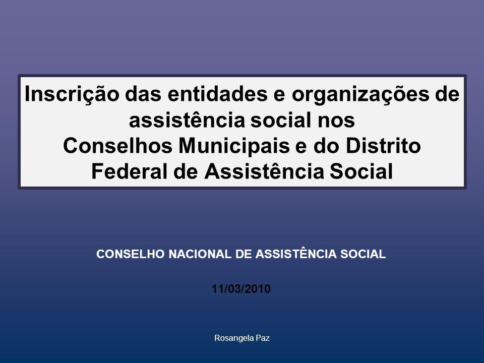 CONSELHO NACIONAL DE ASSISTÊNCIA SOCIAL 11/03/2010