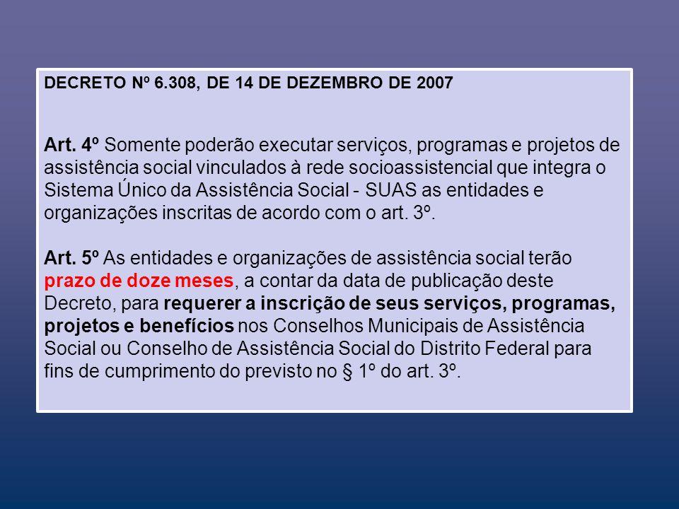 DECRETO Nº 6.308, DE 14 DE DEZEMBRO DE 2007