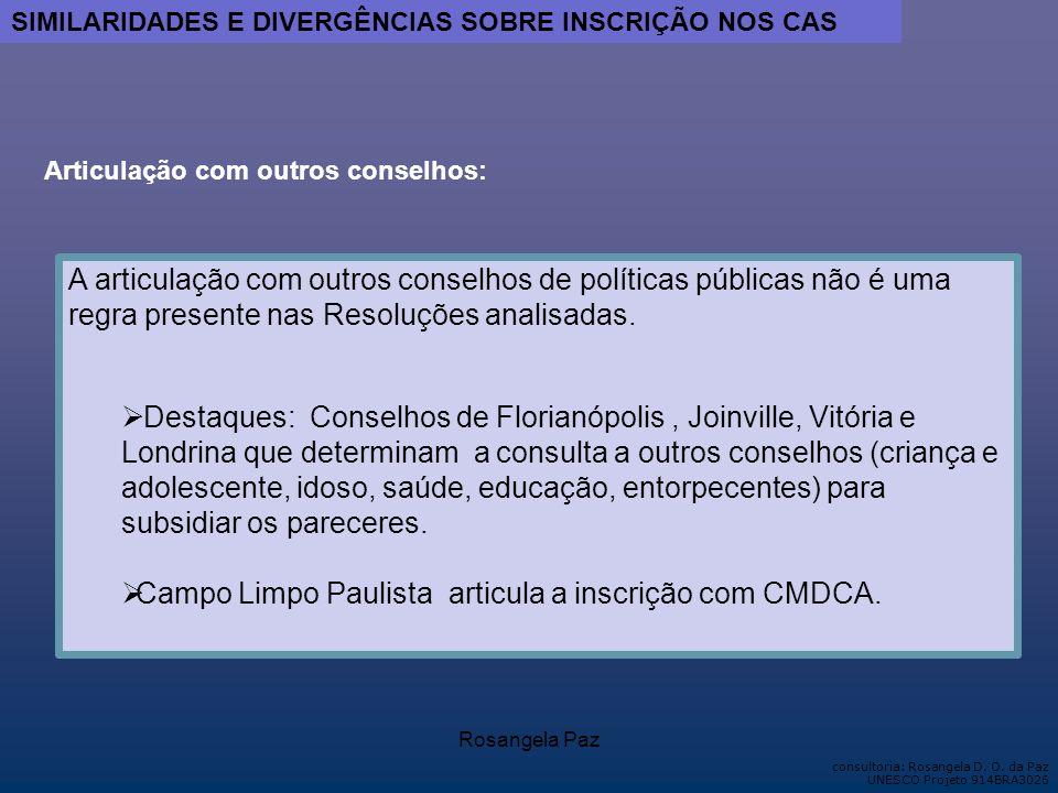 Campo Limpo Paulista articula a inscrição com CMDCA.