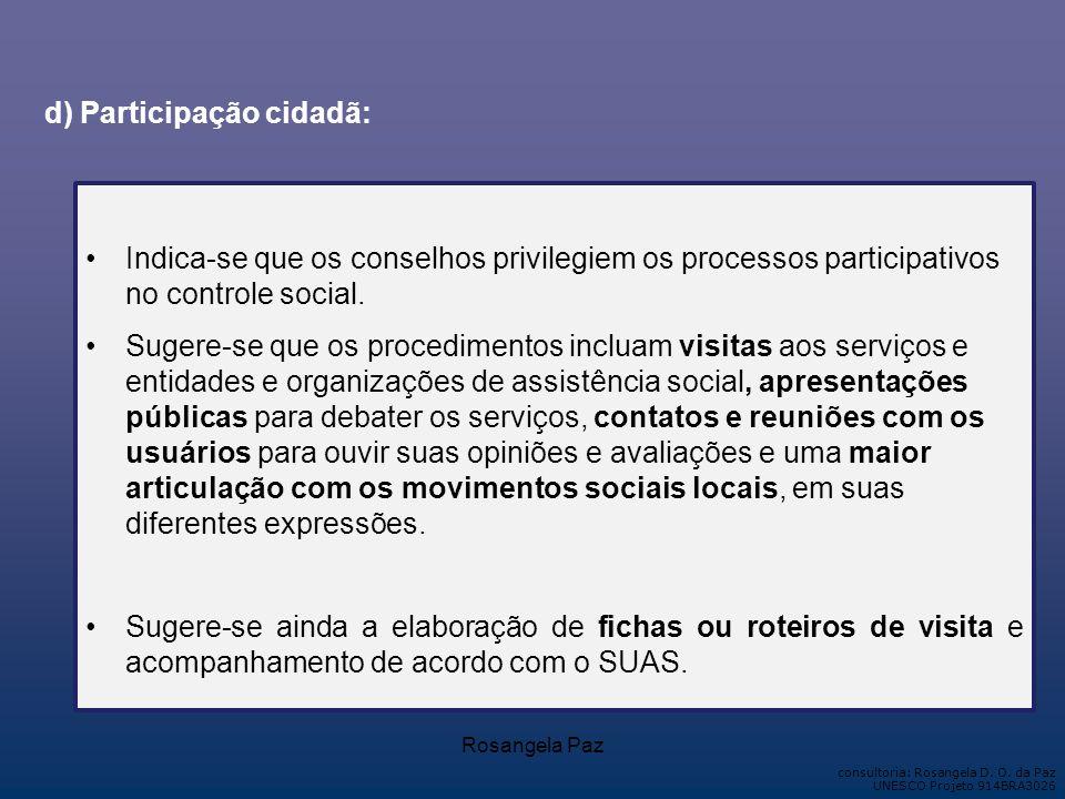 d) Participação cidadã: