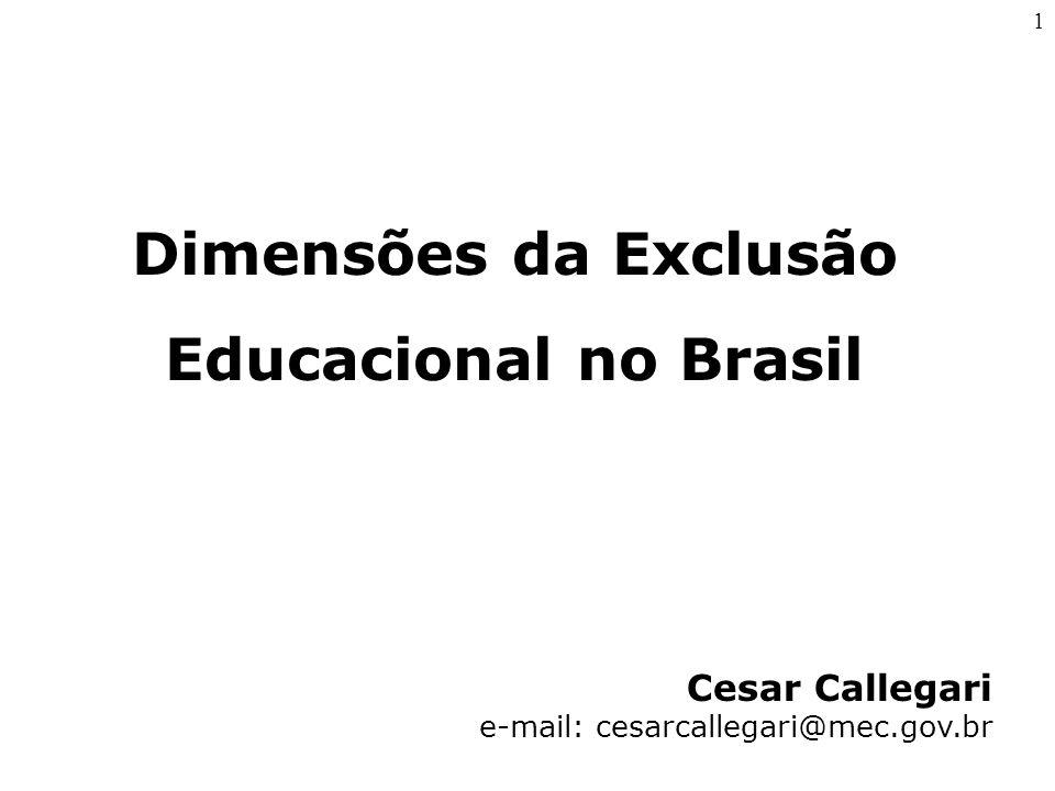 Dimensões da Exclusão Educacional no Brasil