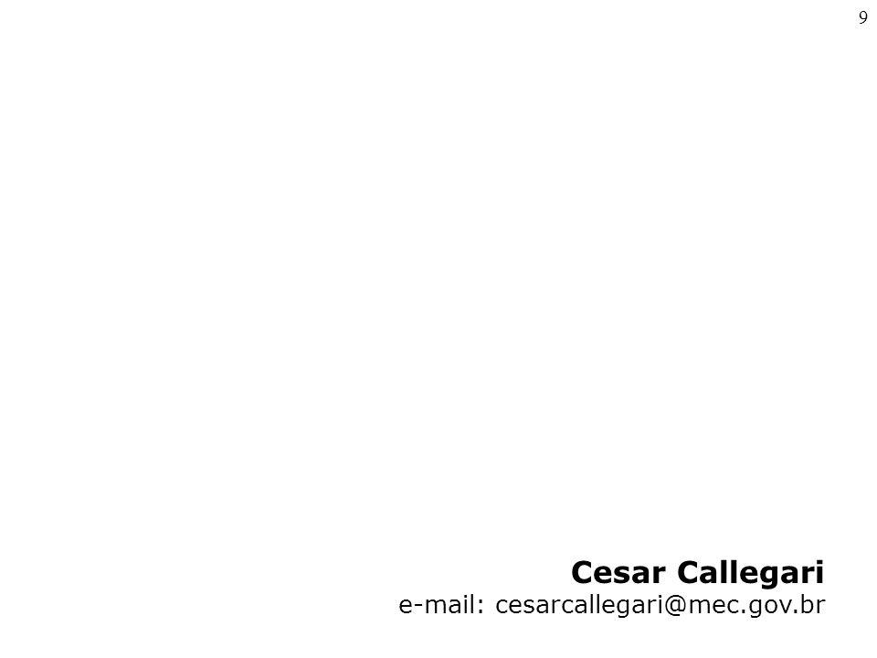 Cesar Callegari e-mail: cesarcallegari@mec.gov.br