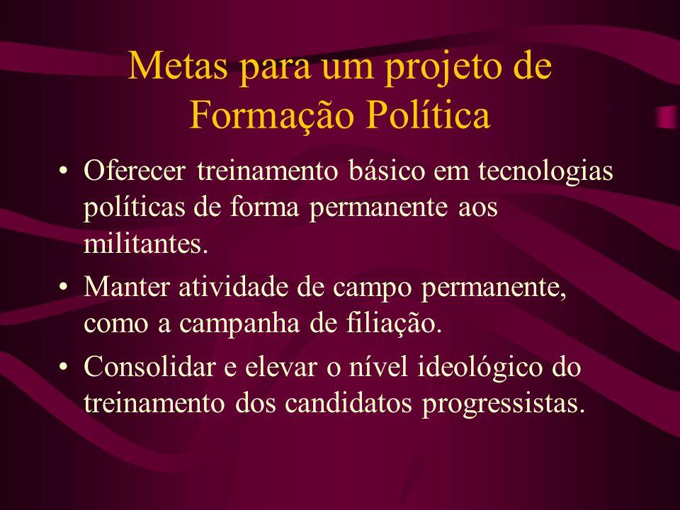 Metas para um projeto de Formação Política