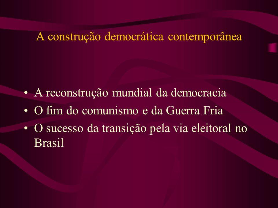 A construção democrática contemporânea