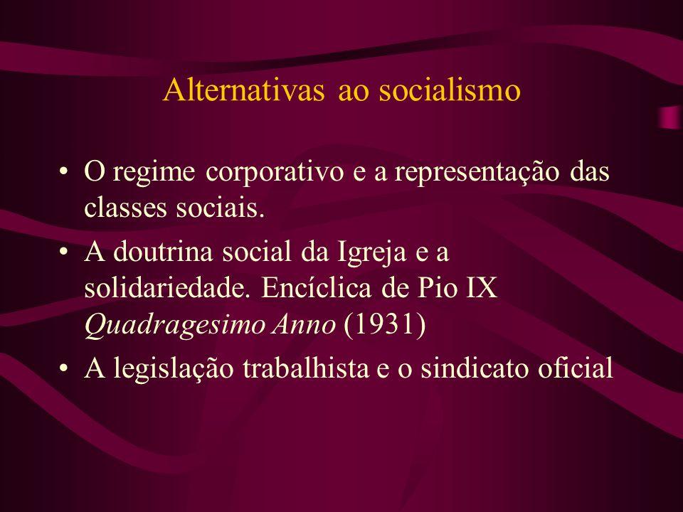Alternativas ao socialismo