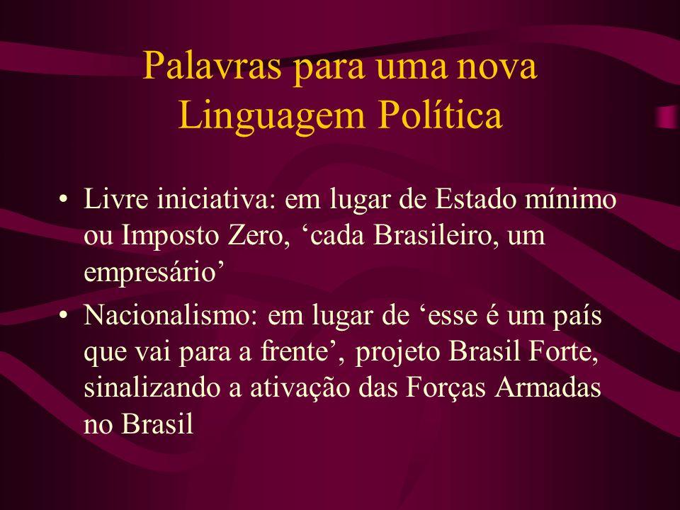 Palavras para uma nova Linguagem Política