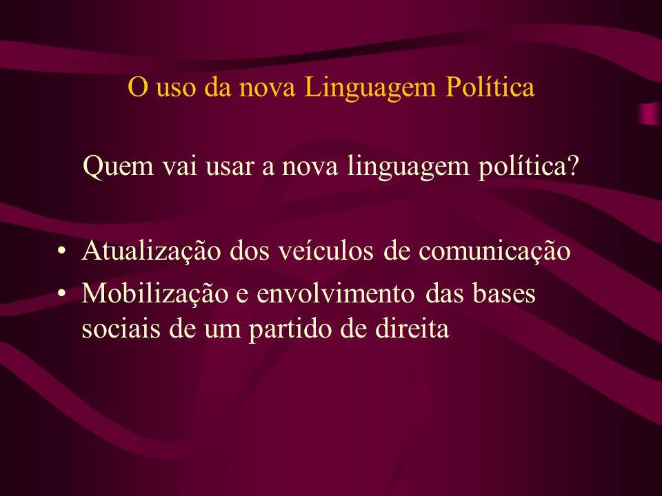 O uso da nova Linguagem Política