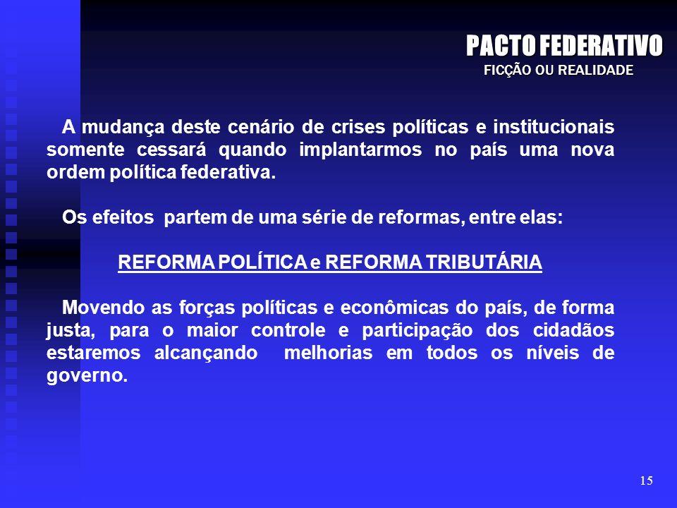 REFORMA POLÍTICA e REFORMA TRIBUTÁRIA