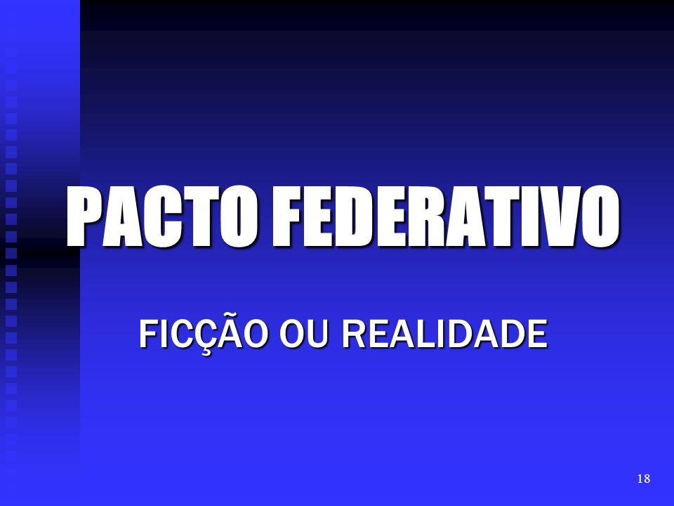 PACTO FEDERATIVO FICÇÃO OU REALIDADE