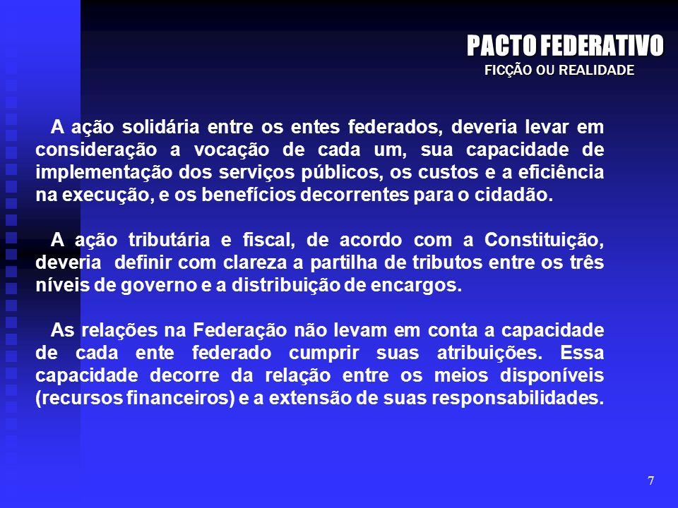 PACTO FEDERATIVO FICÇÃO OU REALIDADE.