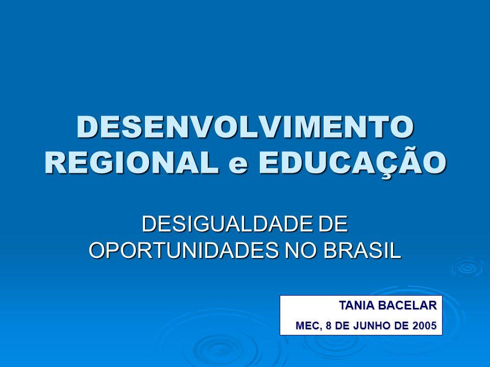 DESENVOLVIMENTO REGIONAL e EDUCAÇÃO