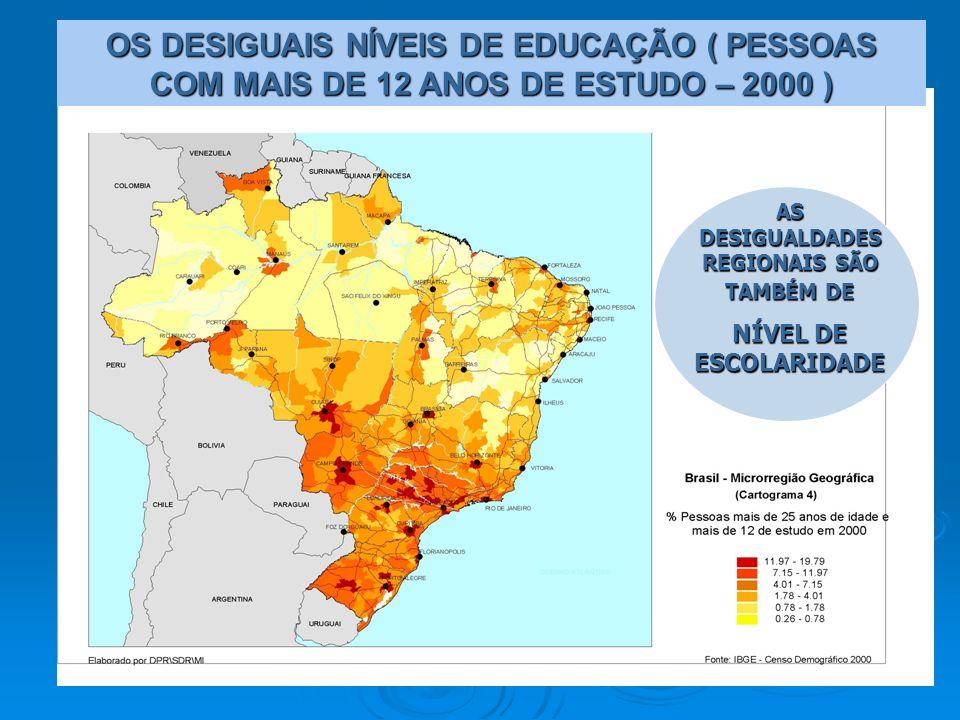 AS DESIGUALDADES REGIONAIS SÃO TAMBÉM DE