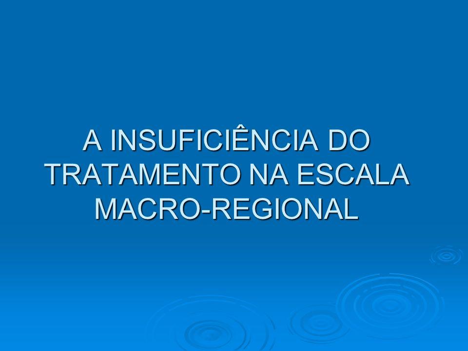 A INSUFICIÊNCIA DO TRATAMENTO NA ESCALA MACRO-REGIONAL