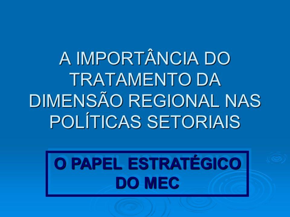 O PAPEL ESTRATÉGICO DO MEC