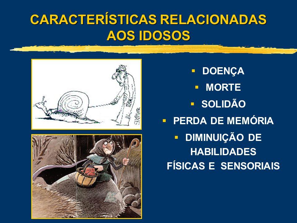 CARACTERÍSTICAS RELACIONADAS AOS IDOSOS