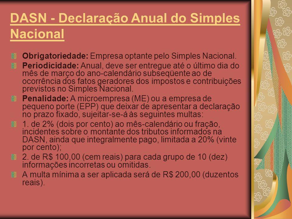 DASN - Declaração Anual do Simples Nacional