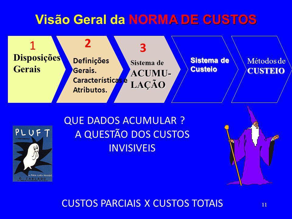 Visão Geral da NORMA DE CUSTOS