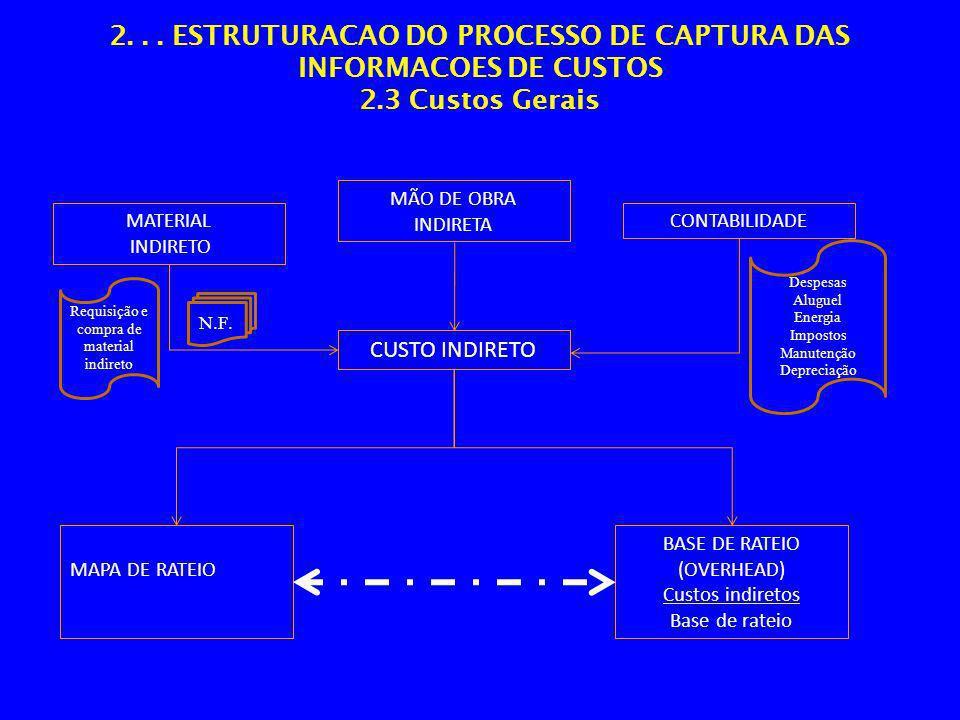 2. ESTRUTURACAO DO PROCESSO DE CAPTURA DAS INFORMACOES DE CUSTOS 2