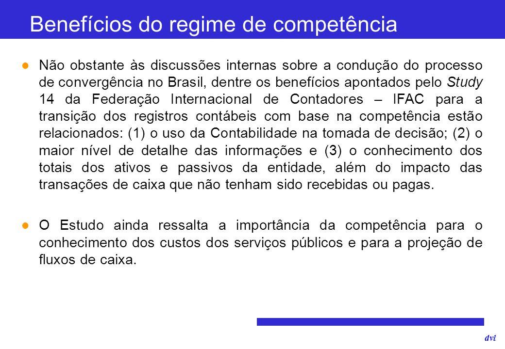Benefícios do regime de competência