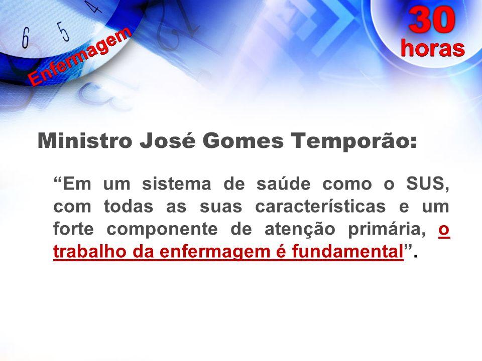 Ministro José Gomes Temporão: