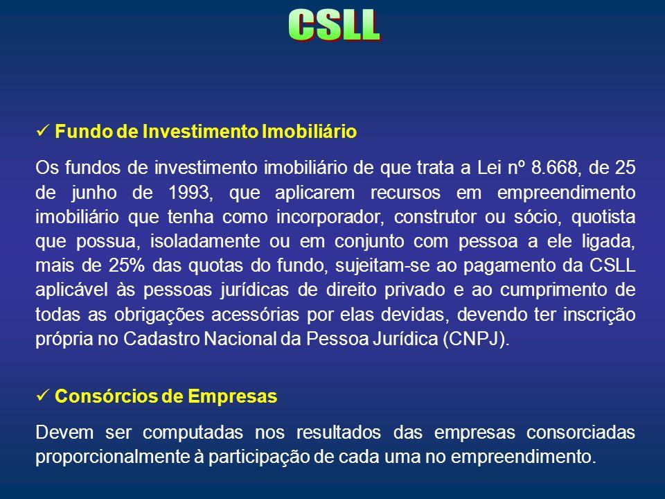 CSLL Fundo de Investimento Imobiliário