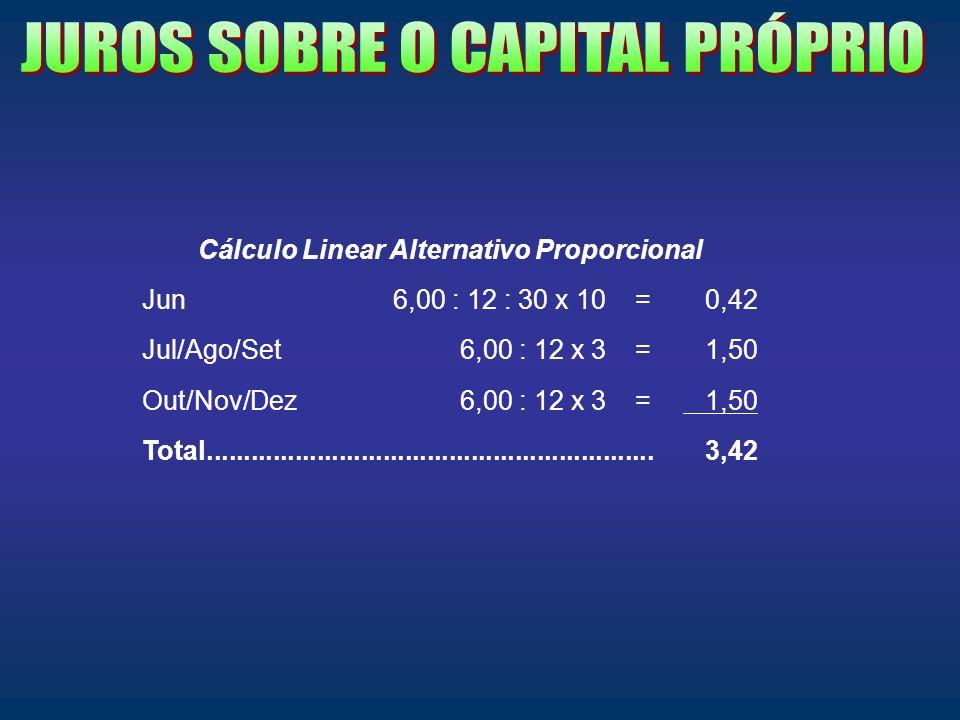 Cálculo Linear Alternativo Proporcional