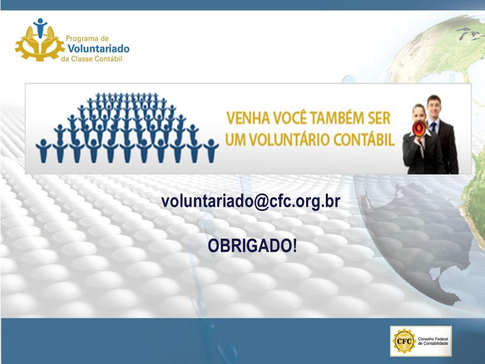 voluntariado@cfc.org.br OBRIGADO!