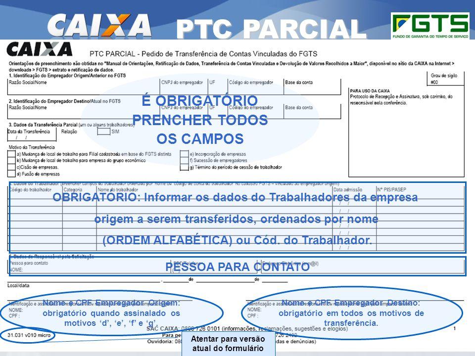 PTC PARCIAL É OBRIGATÓRIO PRENCHER TODOS OS CAMPOS 34
