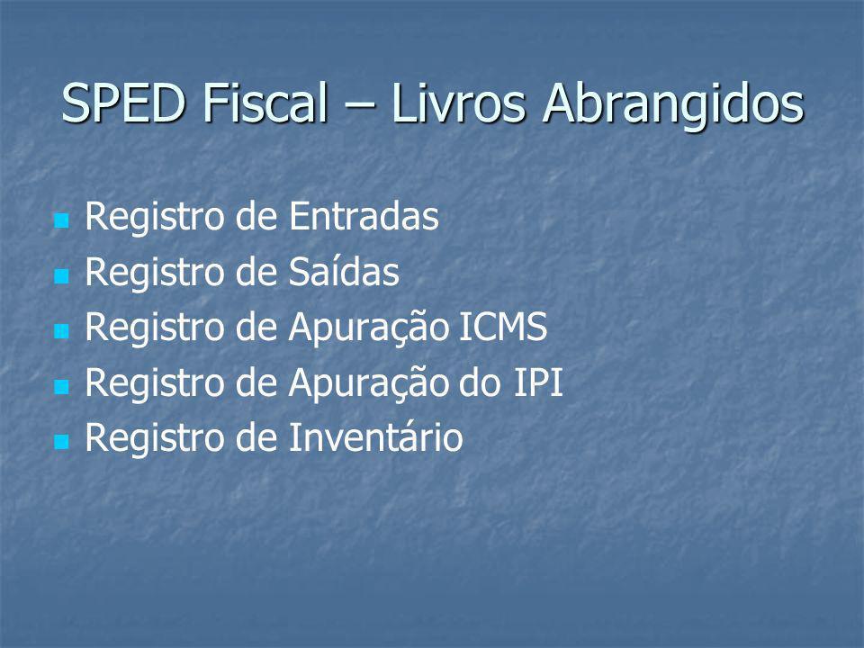 SPED Fiscal – Livros Abrangidos