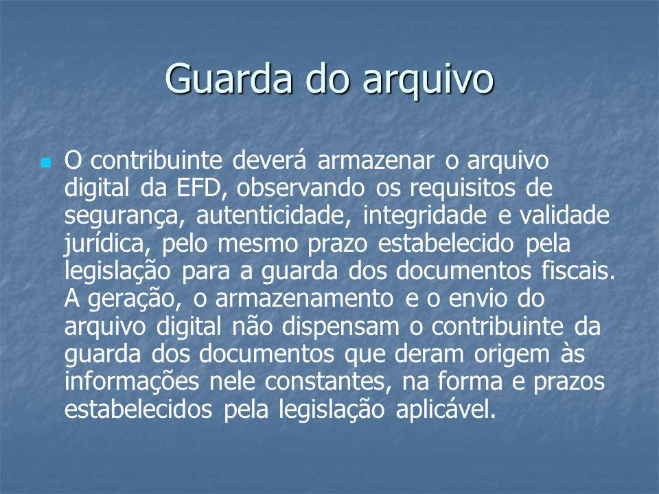 Guarda do arquivo