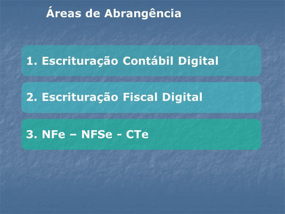 Áreas de Abrangência 1. Escrituração Contábil Digital.