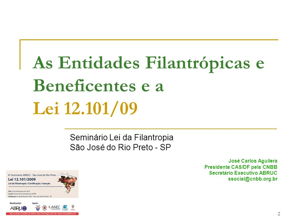 As Entidades Filantrópicas e Beneficentes e a Lei 12.101/09