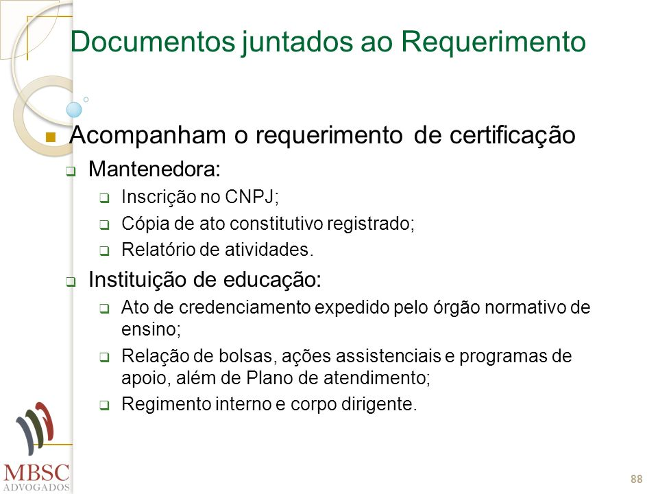 Documentos juntados ao Requerimento