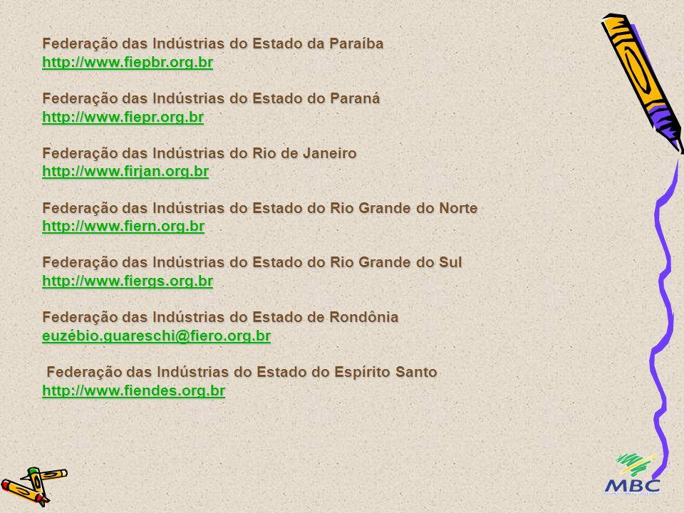 Federação das Indústrias do Estado da Paraíba http://www. fiepbr. org