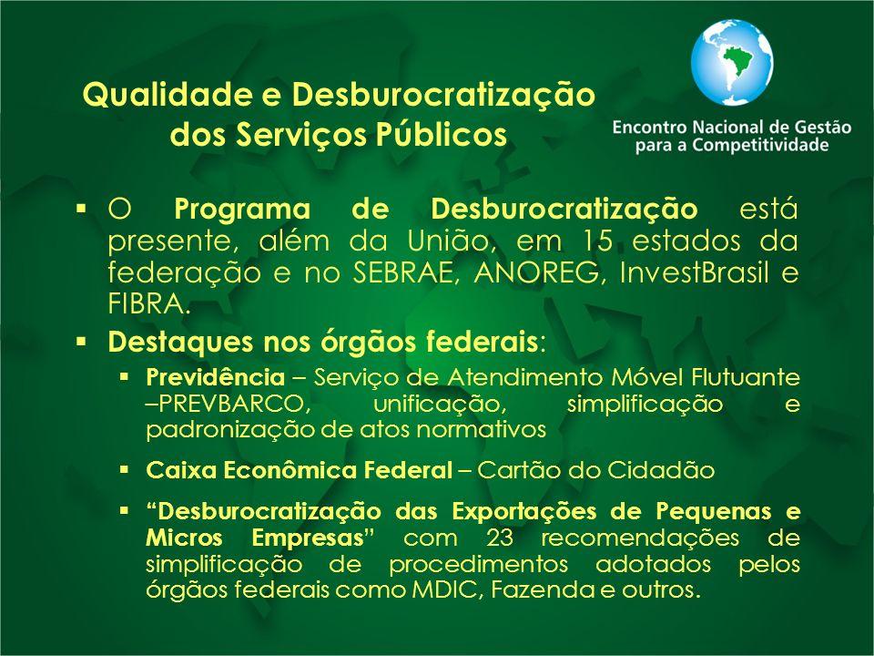 Qualidade e Desburocratização dos Serviços Públicos