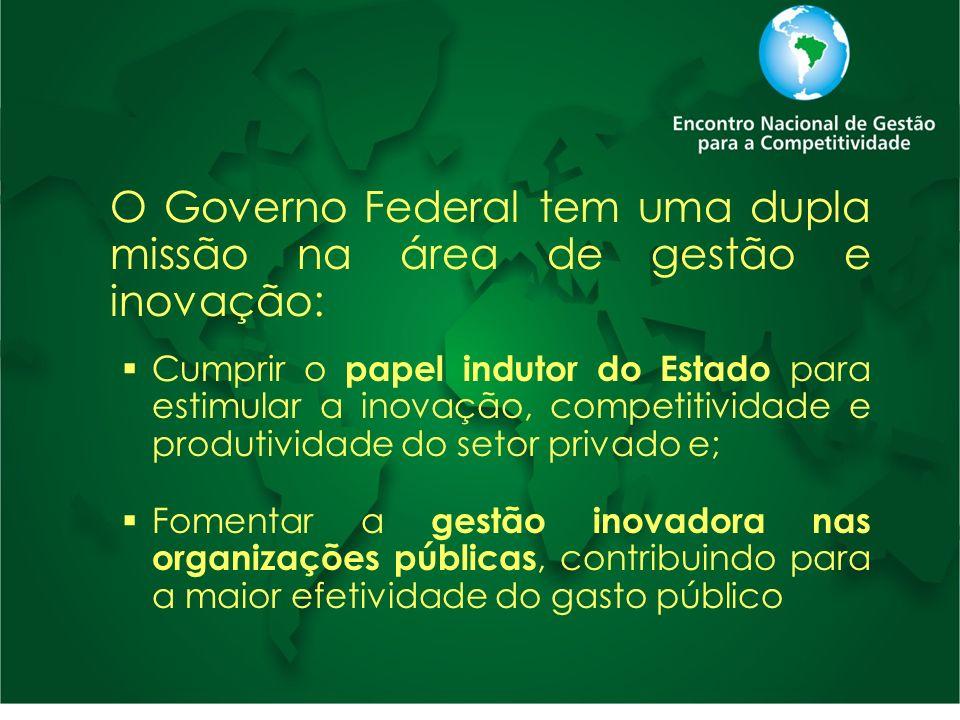 O Governo Federal tem uma dupla missão na área de gestão e inovação: