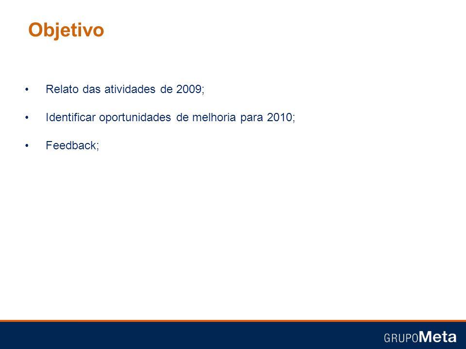 Objetivo Relato das atividades de 2009;