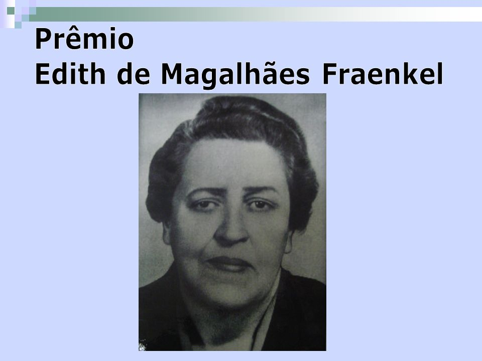 Prêmio Edith de Magalhães Fraenkel