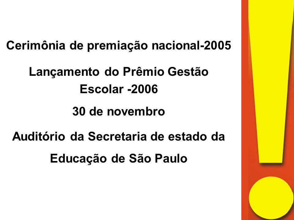 Cerimônia de premiação nacional-2005 Lançamento do Prêmio Gestão
