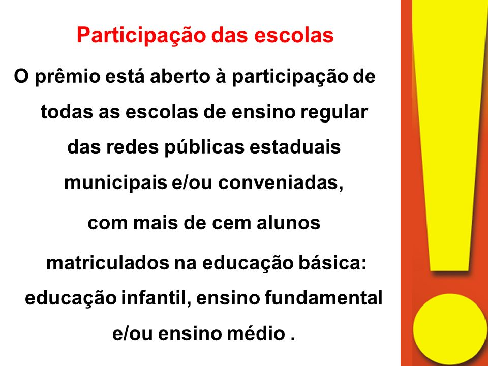 Participação das escolas