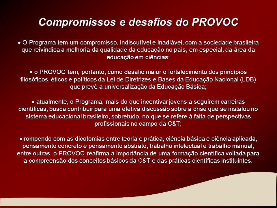 Compromissos e desafios do PROVOC