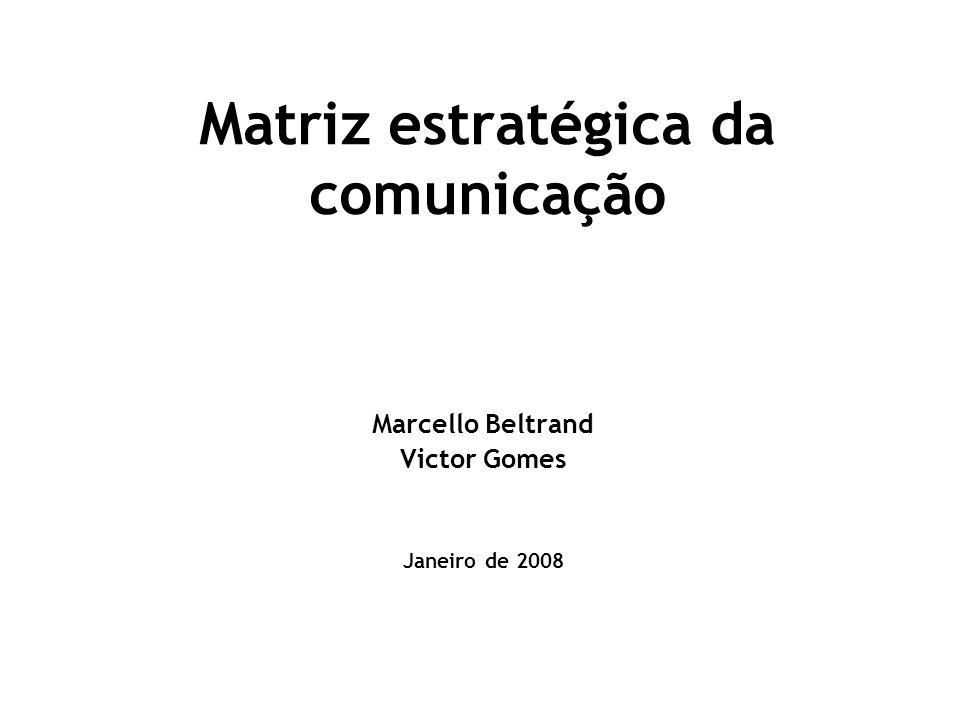 Matriz estratégica da comunicação