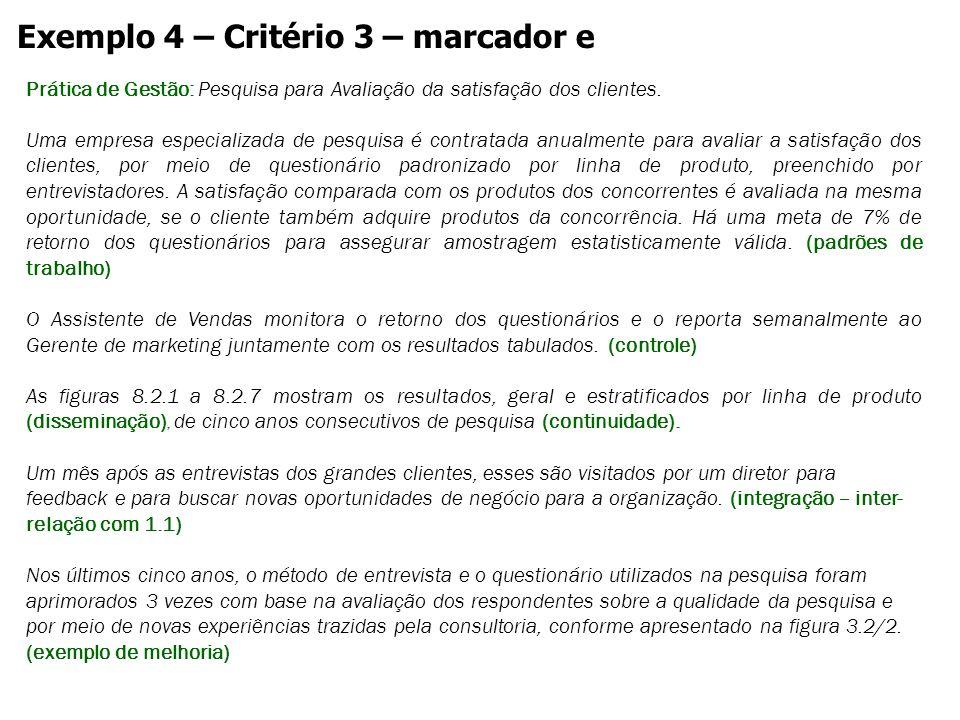 Exemplo 4 – Critério 3 – marcador e
