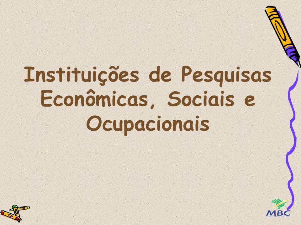 Instituições de Pesquisas Econômicas, Sociais e Ocupacionais