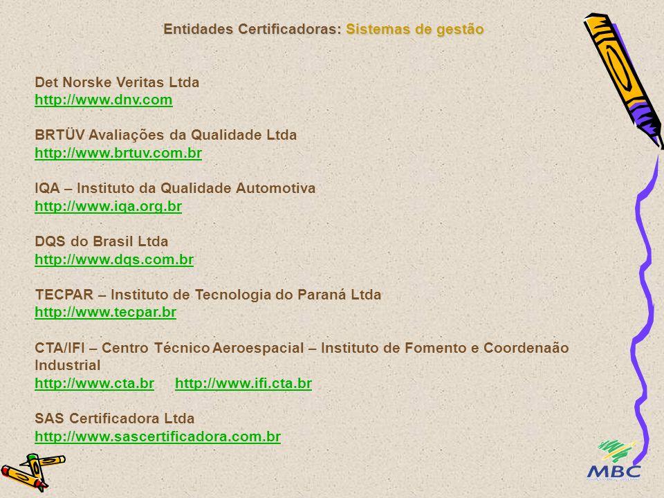Entidades Certificadoras: Sistemas de gestão