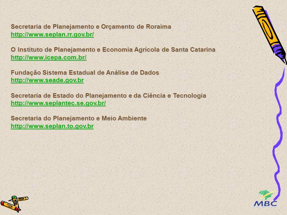 Secretaria de Planejamento e Orçamento de Roraima http://www. seplan