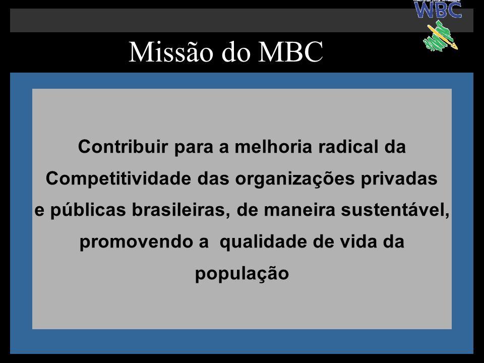 Missão do MBC Contribuir para a melhoria radical da