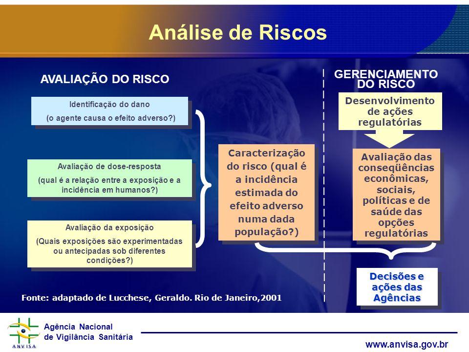 Análise de Riscos AVALIAÇÃO DO RISCO GERENCIAMENTO DO RISCO