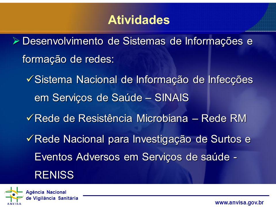 Atividades Desenvolvimento de Sistemas de Informações e formação de redes: Sistema Nacional de Informação de Infecções em Serviços de Saúde – SINAIS.