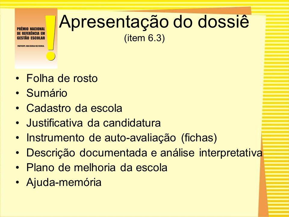 Apresentação do dossiê (item 6.3)